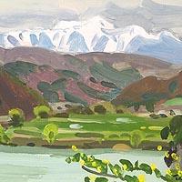 仙丈岳と高遠ダム