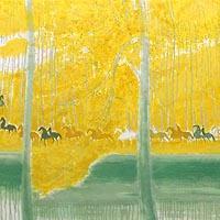 池の端の騎馬行進