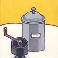 コーヒー挽きとシュガーポット
