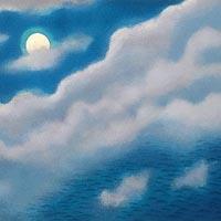 「洋上月」オリジナル石版画集「日月春秋」より