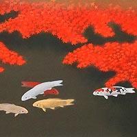 「秋映」オリジナル石版画集「日月春秋」より