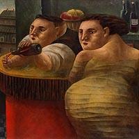 バーテンダーと女性