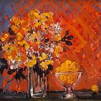 オレンジの花束