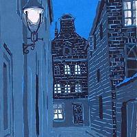 夕べの町 古都を描くより