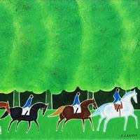 森の中の乗馬