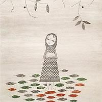 落葉と少女